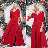 Нарядное женское платье в пол Люрекс Декорировано брошками Размер 42 44 46 Разные цвета, фото 1