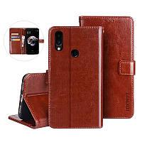 Чехол Idewei для Meizu Note 9 книжка кожа PU коричневый
