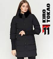11 Kiro Tokao | Длинная женская куртка 1719 черная