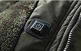 JP original Мужская куртка с подогревом экокожа джип парка, фото 7