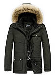 JP original Мужская куртка с подогревом экокожа джип парка, фото 3
