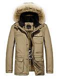 JP original Мужская куртка с подогревом экокожа джип парка, фото 2