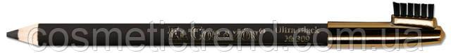 Карандаш для бровей водостойкий Ultra Black (ультра черный) №309 El Corazon, фото 2