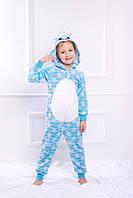 Детское кигуруми Единорог голубой (104, 110, 116), фото 1