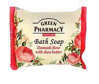 Мыло косметическое «Дамасская роза с маслом ши» Зеленая аптека 100г