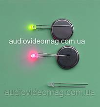 Світлодіод 3V 3 мм, двоколірний, колір червоний і зелений