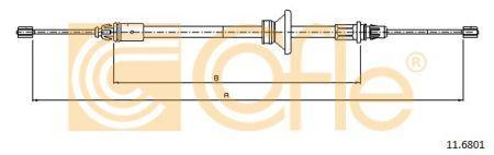 Трос стояночного гальма OPEL VIVARO A Фургон (X83) 2001-2014 р.