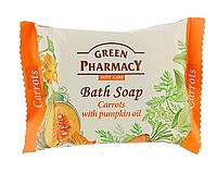 Мыло косметическое «Морковь с маслом тыквы» Зеленая аптека 100г