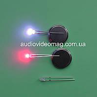 Светодиод 3V 3 мм, двухцветный, цвет красный и синий