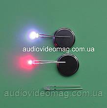 Світлодіод 3V 3 мм, двоколірний, колір червоний і синій
