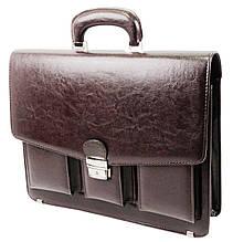 Портфель мужской из искусственной кожи JPB, TE-88 коричневый