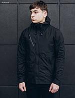 Мужская куртка черная (стаф) Staff windstorm black RUR0006 в наличии р. ХС