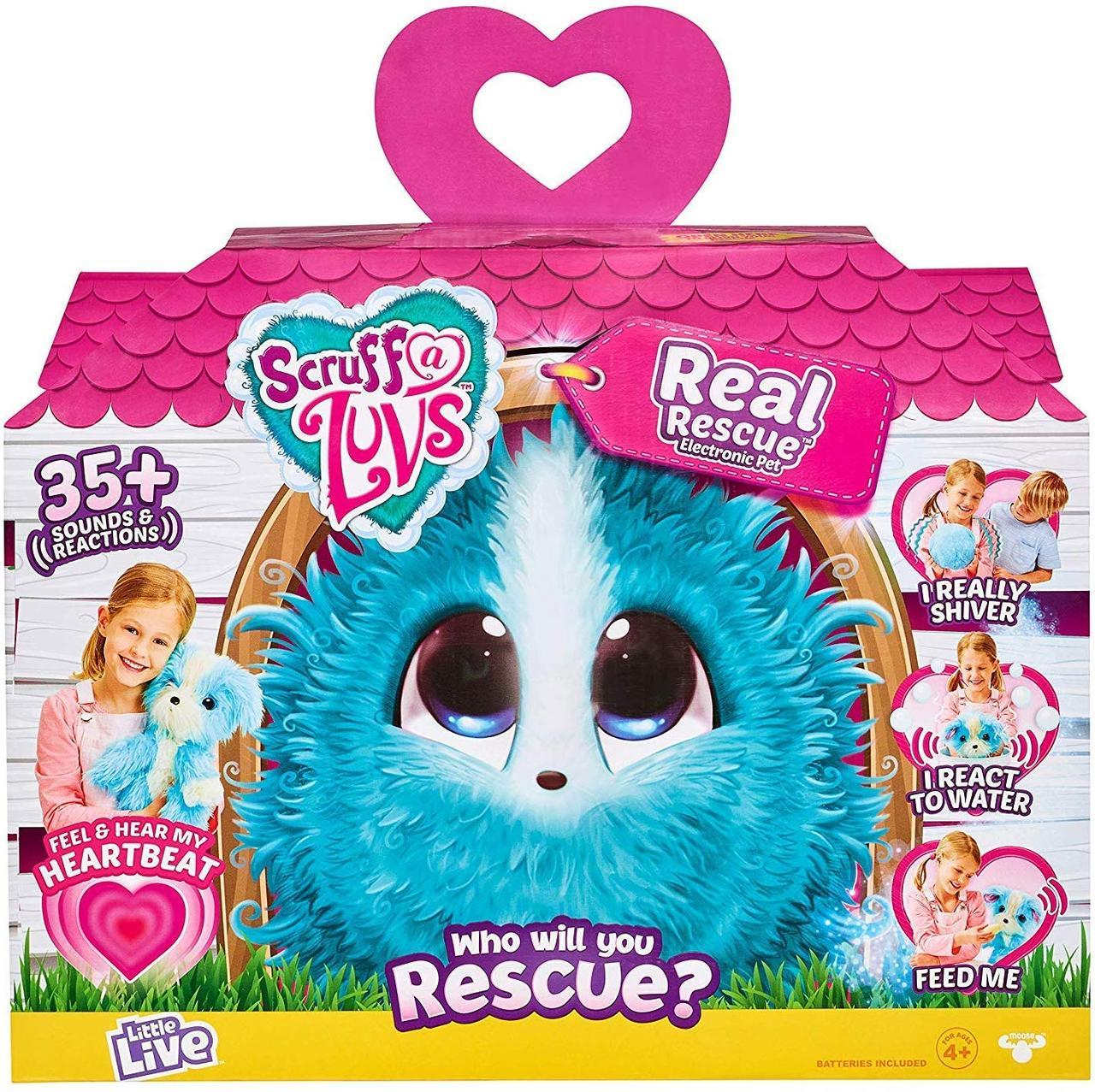 Интерактивная мягкая игрушка собачка или кошка Няшка-Потеряшка. Scruff-a-Luvs Electronic Pet. Оригинал из США