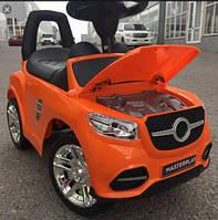 Машинка каталка детская MasterPlay музыкальная красная оранжевая