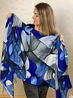 """Шарф жіночий брендовий  """"Абстракція"""", 180*70см., синій, сірий, Eyfel, Туреччина"""