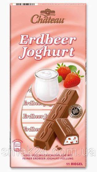 Шоколад молочний з полуничним йогуртом Erdbeer Joghurt Chateau Німеччина 200г