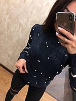 Невероятно теплый шерстяной новогодний женский свитер (вязка), фото 1