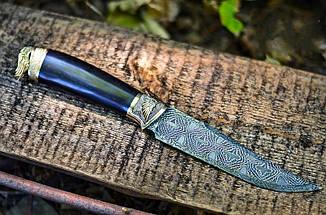 """Авторский коллекционный нож """"Angel"""" с мозаичным дамаском и грабом, элитный подарок мужчине, фото 3"""