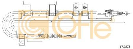 Трос стояночного гальма HYUNDAI ELANTRA седан (HD) 2005-2012 р.