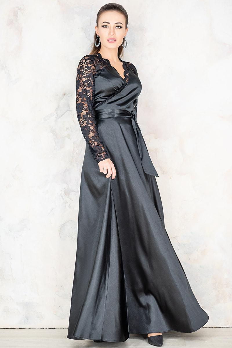 Черное вечернее платье Сатира