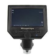 """Цифровой микроскоп с монитором 4.3"""" G600 (запись видео и фото на microSD (16gb class 10), фокус 20-120 мм, кратность увеличения 600X)"""