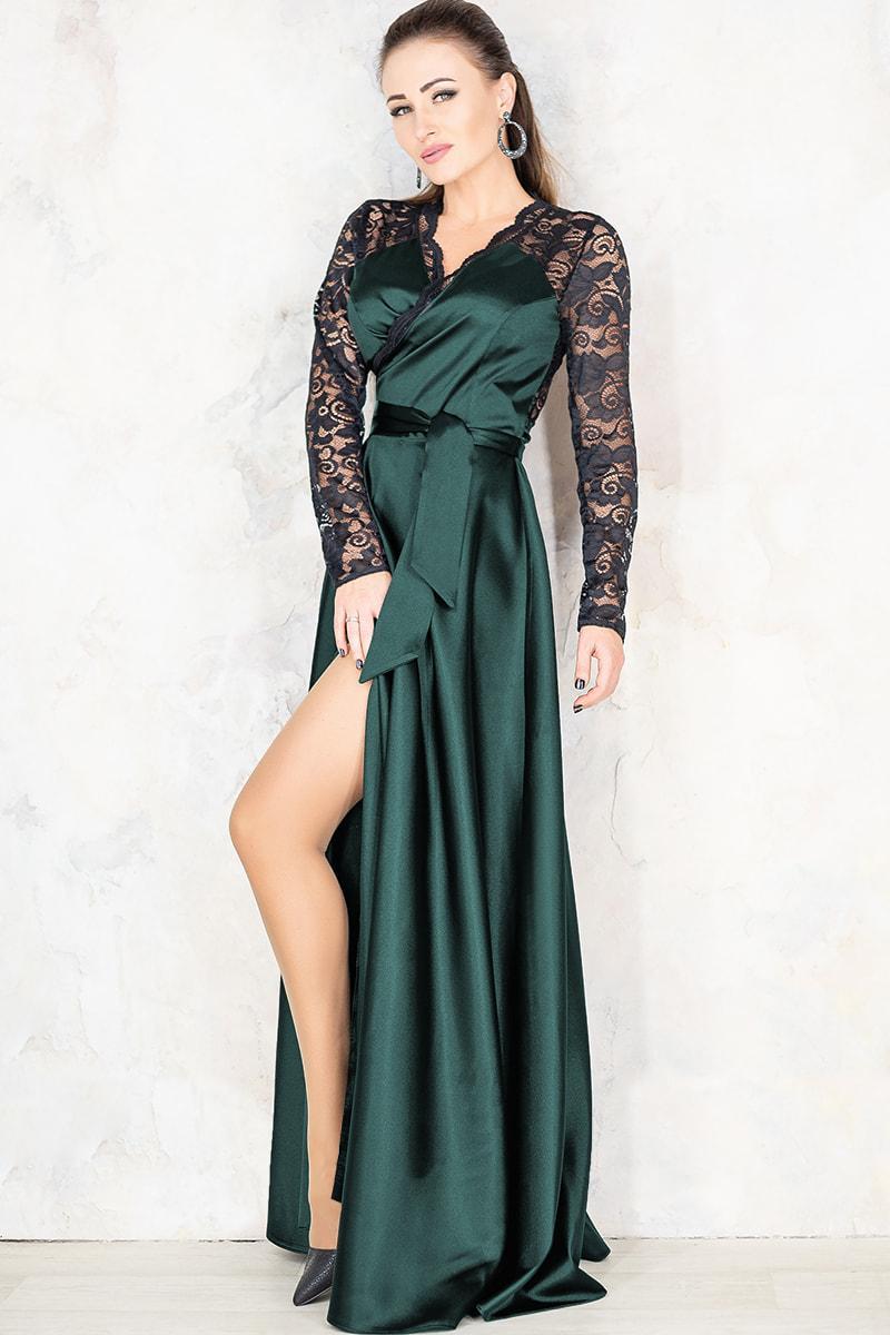 Зелене вечірнє плаття Сатира
