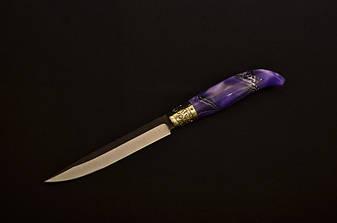 Фінський ніж ручної роботи , N690 (авторські ножі українських майстрів), фото 2