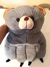 Грілка-муфта електрична для рук (грілка ведмедик) сіра