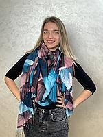 """Шарф жіночий брендовий  """"Абстракція"""",180*70см.,синій, рожевий (Модель 3), Eyfel, Туреччина"""