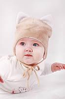 Зимова плюшева шапка для малюка