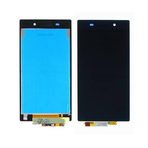 Дисплей для SONY C6902/Xperia Z1 с чёрным тачскрином, фото 2