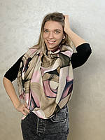 """Шарф жіночий брендовий  """"Абстракція"""", 180*70см., бежевий, рожевий, Eyfel, Туреччина"""