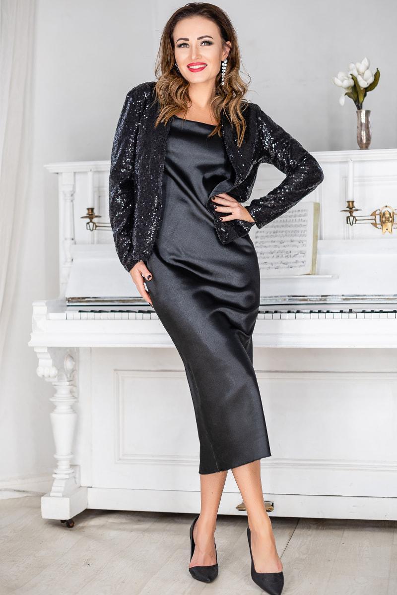 Чорний жіночий костюм ошатний Марго