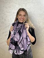 """Шарф жіночий брендовий """"Абстракція"""", 180*70см., фіолетовий, чорний (Модель2), Eyfel, Туреччина"""