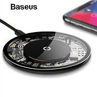 Беспроводная Зарядка QI BASEUS Simple Crystal  10W, QC 