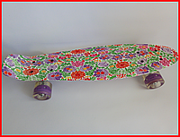 Пенни борд 24 Penny Board Цветы