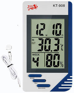 Гигрометр-термометр KT-908 с выносным датчиком