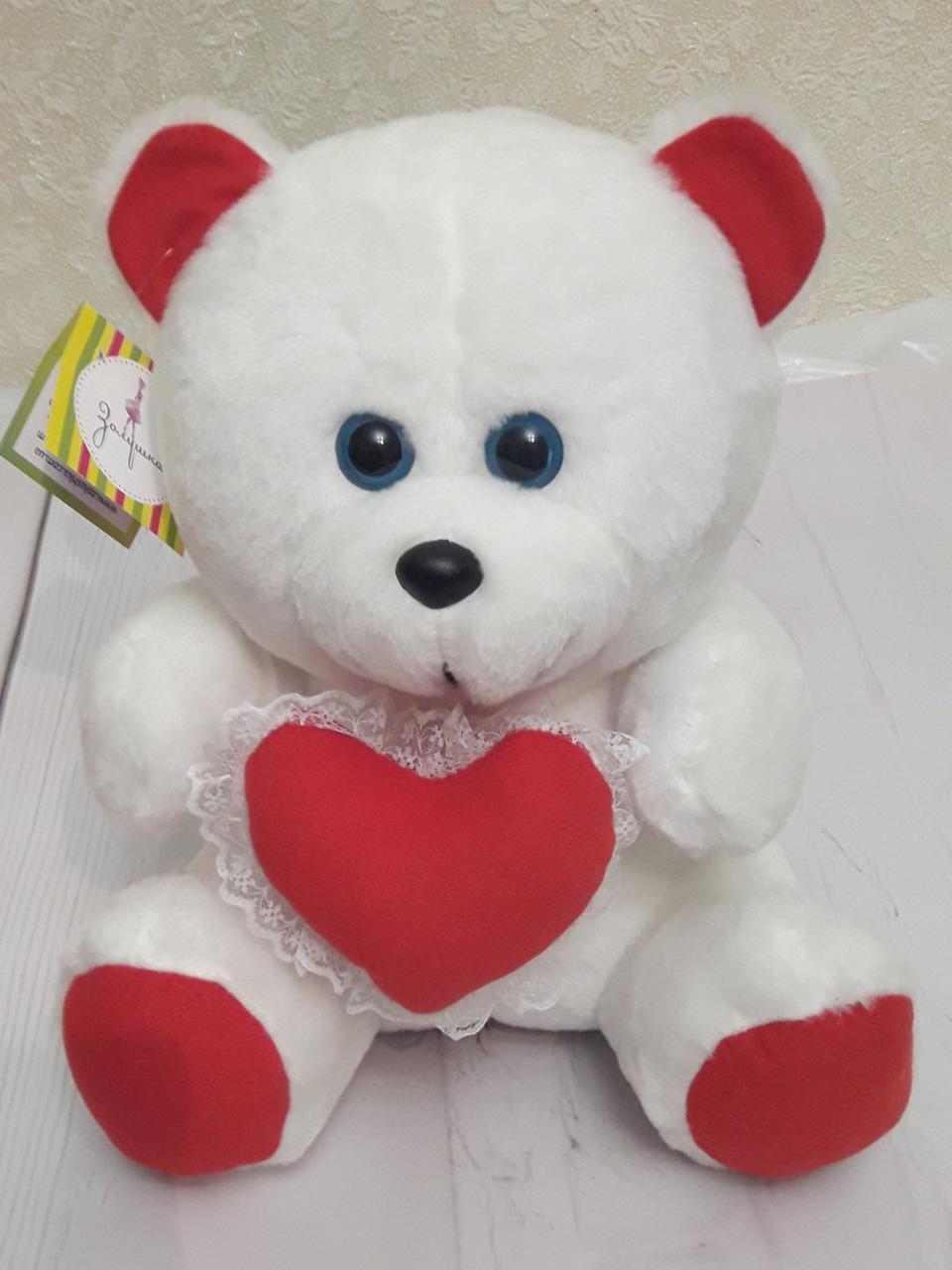 Мягкая игрушка 31см – Влюбленный медвежонок с сердцем