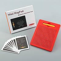 Магнитный планшет для рисования Mag Pad красный 380 шариков MP380R