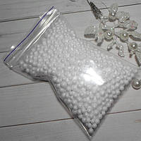 Искусственный снег, пенопластовые шарики 3-4 мм (упаковка 11 х 8 см)