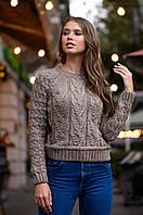 Стильный модный теплый вязаный свитерок.