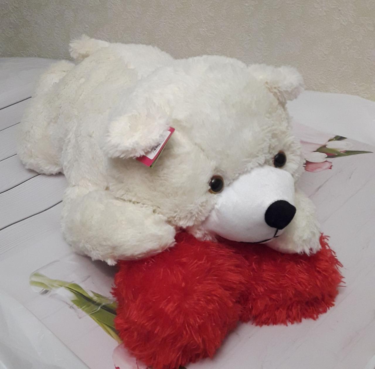 М'яка іграшка Ведмедик Умка великий молочний 76см