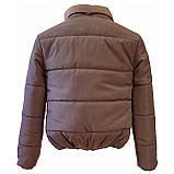 Модна жіноча куртка р. з 42 по 48 модель вик.сірий, фото 6