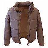 Модна жіноча куртка р. з 42 по 48 модель вик.сірий, фото 7
