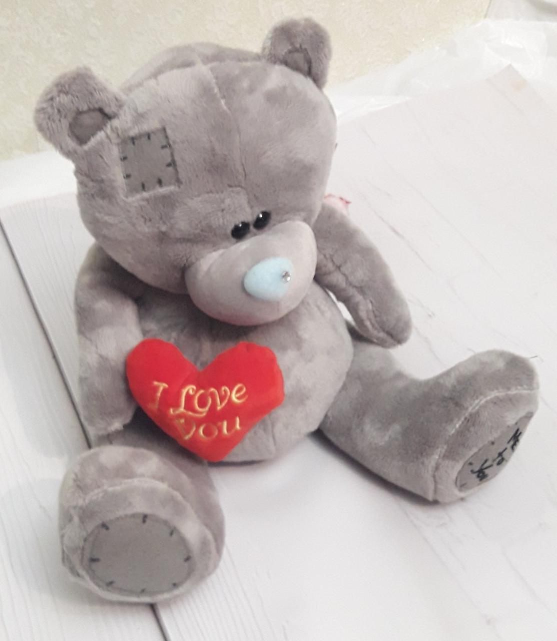 Мягкая игрушка 30см – Влюбленный медвежонок Тедди с сердцем