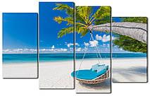 Модульная картина Побережье с белым песком 114*69 см Код: W3776