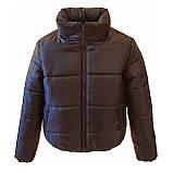 Модна жіноча куртка р. з 42 по 48 модель вик.синій, фото 5