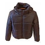 Модна жіноча куртка р. з 42 по 48 модель вик.синій, фото 8