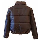 Модна жіноча куртка р. з 42 по 48 модель вик.синій, фото 7