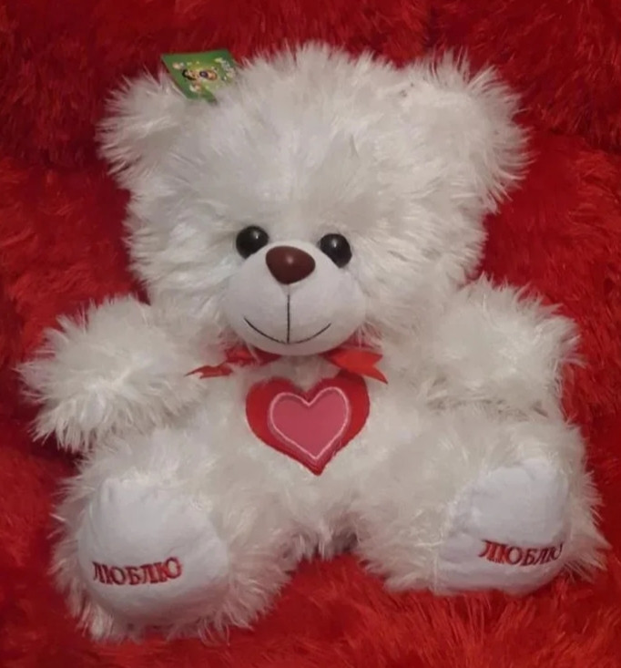 М'яка іграшка 45см – Ведмедик білий